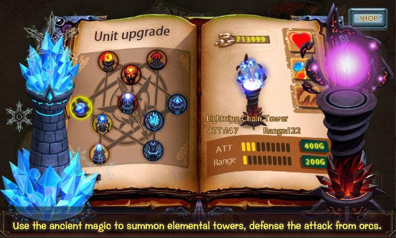 Скриншоты игры Epic defense: Fire of the dragons для Android. Игровой проц