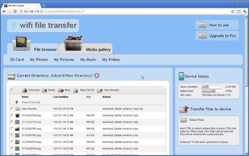 Загрузки - скачать файл WiFi File Transfer Pro 1.0.9.apk.