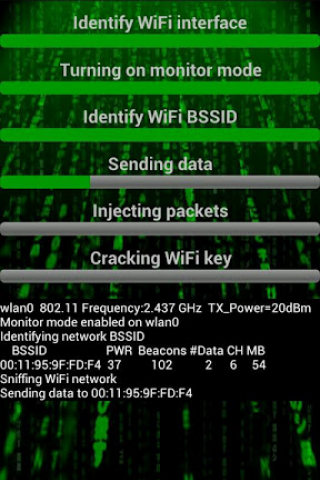 WiFi Hacker (bgn) makes it look like you can hack any WiFi network. WEP, W