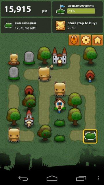 Попробуйте увидеть чуть больше - скриншот Triple Town для Android.