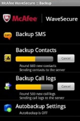 McAfee WaveSecure - приложение для андроид.