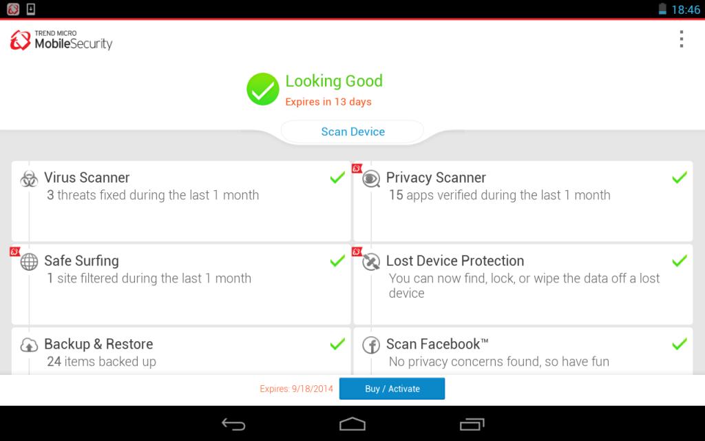 Trend Micro Mobile Security, Antivirus, & Performance Booster app provi