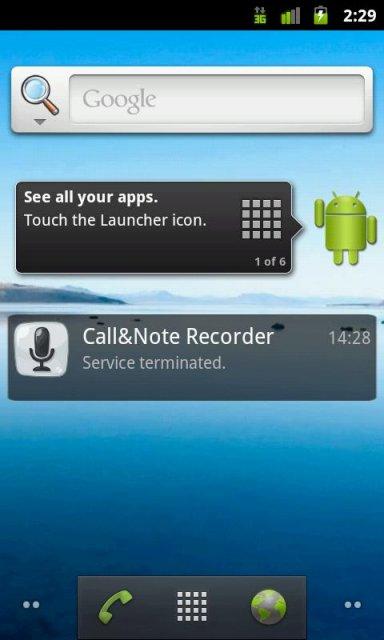 Android OS 2.3 и выше Язык: Английский Программа для записи разговоров.М