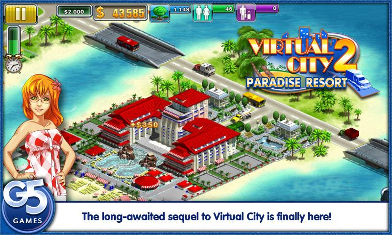 Скачать Virtual City: Paradise Resort.apk.