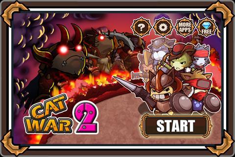 Cat War2 -это забавная игра на андроид телефоны, в которой вам предстоит пр