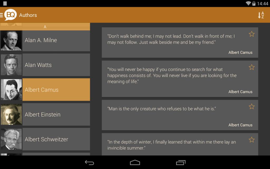 Brilliant Quotes Android Brilliant Quotes Screenshot 7