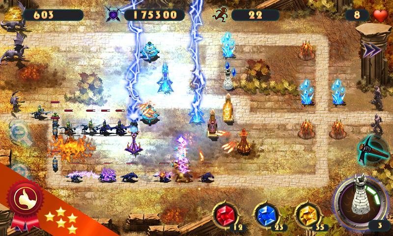 Epic Defence - это неплохой представитель игр жанра Tower Defense для Andro